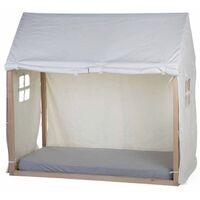 CHILDHOME Bed House Cover 150x80x140 cm White - White
