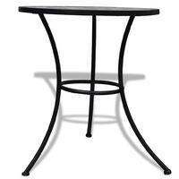 vidaXL Bistro Table Black and White 60 cm Mosaic - Black