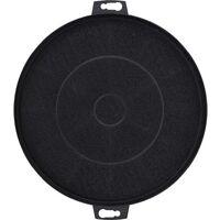 vidaXL Range Hood Charcoal Filters 2 pcs 210 mm - Black