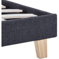 vidaXL Bed Frame Dark Grey Fabric 135x190 cm - Grey