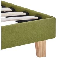 vidaXL Bed Frame Green Fabric 180x200 cm 6FT Super King - Green