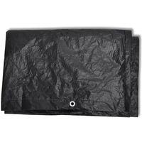 Garden Furniture Cover 8 Eyelets 140 x 70 x 90 cm - Black