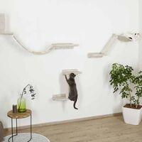 Kerbl Cat Climbing Wall Mount Everest Wood Beige - Beige