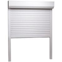 vidaXL Roller Shutter Aluminium 70x100 cm White - White