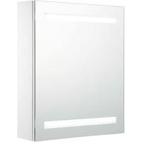 vidaXL LED Bathroom Mirror Cabinet 50x13.5x60 cm - White