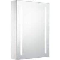 vidaXL LED Bathroom Mirror Cabinet 50x13x70 cm - White