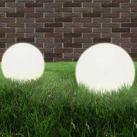 vidaXL LED Bowl Lamps 4 pcs Spherical 40 cm PMMA - White