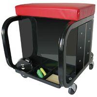 ProPlus Mobile Workshop Roller Seat with Storage 580526 - Black