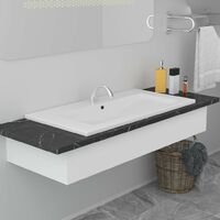 Built-in Basin 81x39.5x18.5 cm Ceramic White - White