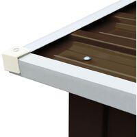 vidaXL Log Storage Shed Galvanised Steel 172x91x154 cm Brown - Brown