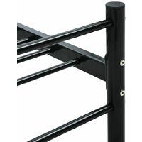 vidaXL Bed Frame Metal Black 6FT Super King 180x200 cm - Black