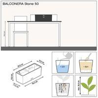 LECHUZA Planter BALCONERA Color 50 ALL-IN-ONE Grey - Grey