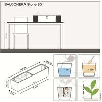 LECHUZA Planter BALCONERA Color 80 ALL-IN-ONE Grey - Grey