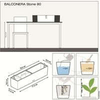 LECHUZA Planter BALCONERA Color 80 ALL-IN-ONE Beige - Beige