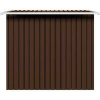 vidaXL Garden Storage Shed Steel Brown 194x121x181 cm - Brown