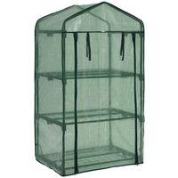 vidaXL 3-Tier Mini Greenhouse 69x49x125 cm - Green