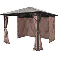 vidaXL Gazebo with Curtain Brown Aluminium 300 x 300 cm - Brown