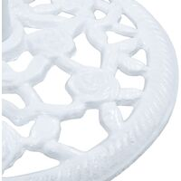 vidaXL Umbrella Base White 12 kg 48 cm Cast Iron - White