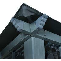 vidaXL Gazebo with Curtain 300x300 cm Anthracite Aluminium - Anthracite