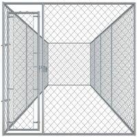 vidaXL Outdoor Dog Kennel 760x192x185 cm - Silver