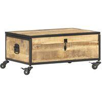 vidaXL Coffee Table 70x50x33 cm Solid Mango Wood - Brown