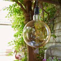 Luxform Battery LED Garden Bulb Sphere - Black