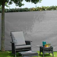 Nature Garden Sight Break Fencing PE 1x3m Grey - Grey