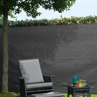 Nature Garden Sight Break Fencing PE 1x3m Anthracite - Grey