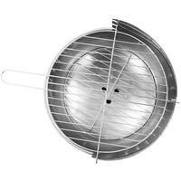 vidaXL Pedestal Charcoal BBQ Grill Stainless Steel - Silver