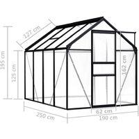 vidaXL Greenhouse Anthracite Aluminium 4.75 m² - Anthracite