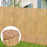 vidaXL Bamboo Fence 300x130 cm - Brown