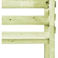 vidaXL Garden Pergola 130x60x230 cm Impregnated Pinewood with Bench - Green