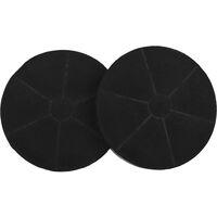 Range Hood Charcoal Filters 2 pcs 175x30 mm