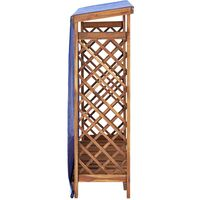 vidaXL Firewood Storage Shed 105x38x118 cm Solid Acacia Wood - Brown
