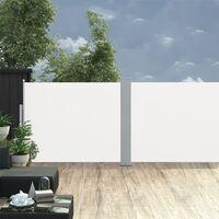 vidaXL Retractable Side Awning Cream 170x1000 cm - Cream