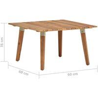 vidaXL Garden Coffee Table 60x60x36 cm Solid Acacia Wood