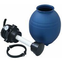 vidaXL Pool Sand Filter with 4 Position Valve Blue 300 mm - Blue