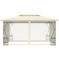 vidaXL Gazebo with Curtains 300x400x265 cm Cream - Cream