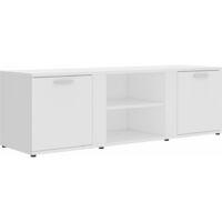 vidaXL TV Cabinet White 120x34x37 cm Chipboard - White