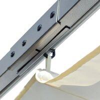 vidaXL Pergola with Retractable Roof Cream White 3x3 m Steel - Cream