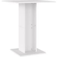 vidaXL Bistro Table White 60x60x75 cm Chipboard - White