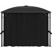 vidaXL Gazebo with Curtains 300x300x265 cm Anthracite - Anthracite