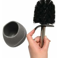 RIDDER Toilet Brush with Holder Little Rock Grey - Grey