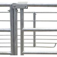 4-Panel Sheep Pen Galvanised Steel 183 x 183 x 92 cm