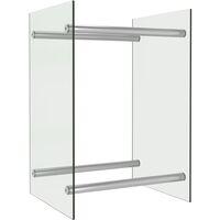vidaXL Firewood Rack Transparent 40x35x60 cm Glass - Transparent