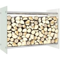 vidaXL Firewood Rack White 80x35x60 cm Glass - White