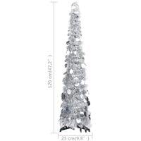 vidaXL Pop-up Artificial Christmas Tree Silver 120 cm PET - Silver
