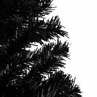 vidaXL Artificial Christmas Tree with Stand Black 150 cm PVC - Black