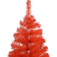 vidaXL Artificial Christmas Tree with Stand Red 180 cm PVC