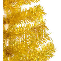 vidaXL Artificial Christmas Tree with Stand Gold 180 cm PET - Gold